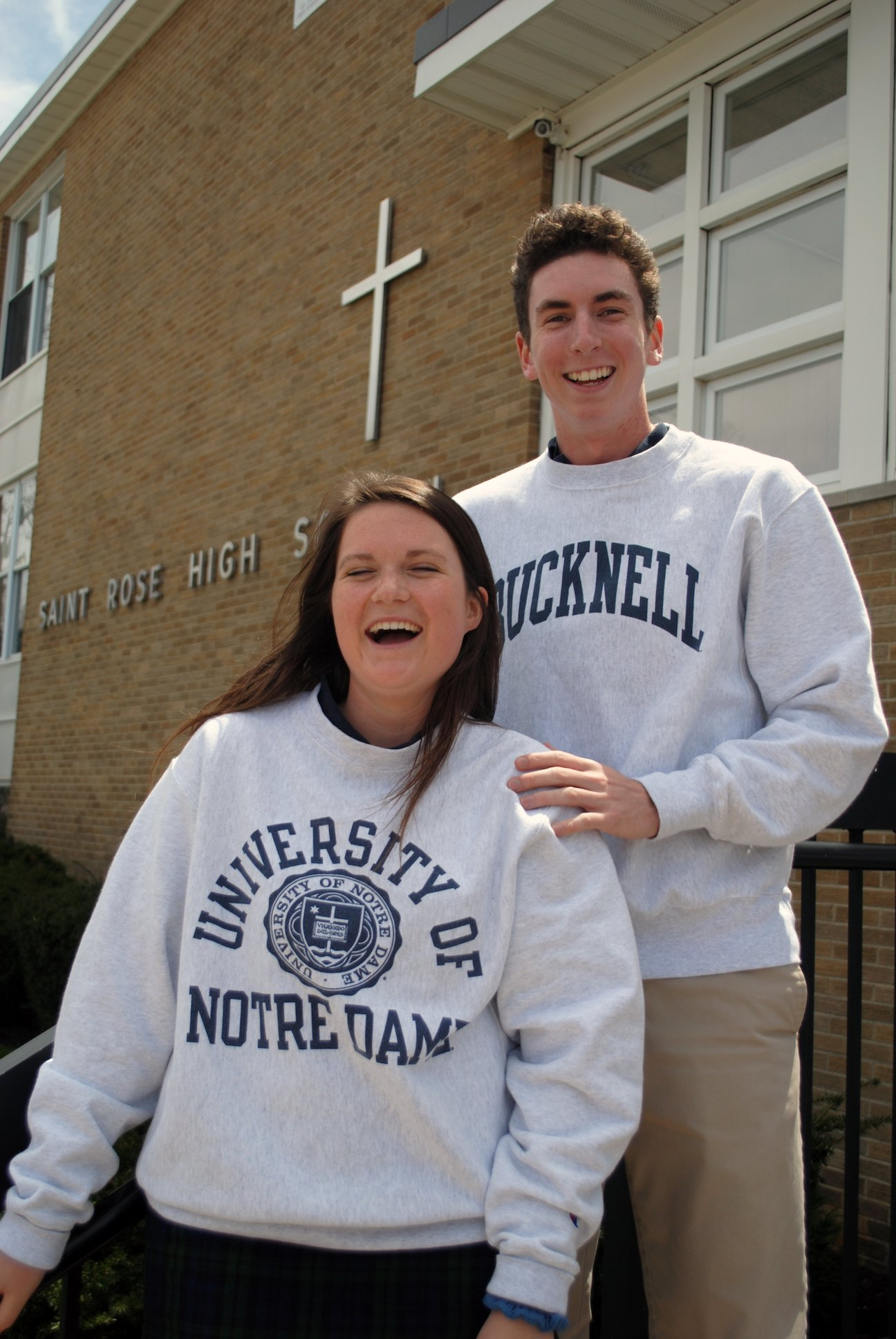 Image: Megan Kendall '18 and Will Gannon '18