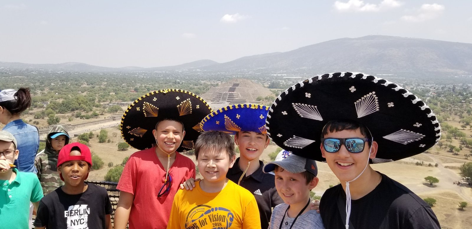 Image: Boy Choristers of Saint Paul's at the top of the Pyramid of the Sun, Teotihuacan