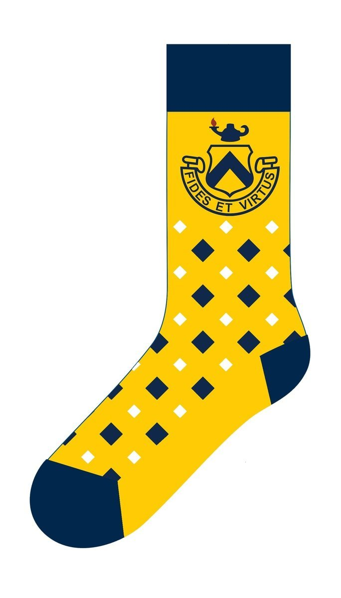 Image: Sock giveaway used for Trinity-Pawling School's Go For the Gold Challenge
