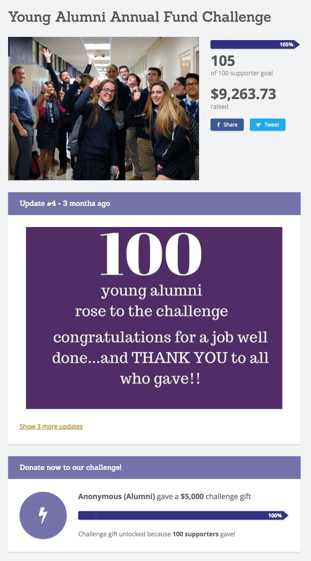 Image: St. Rose's Young Alumni Challenge