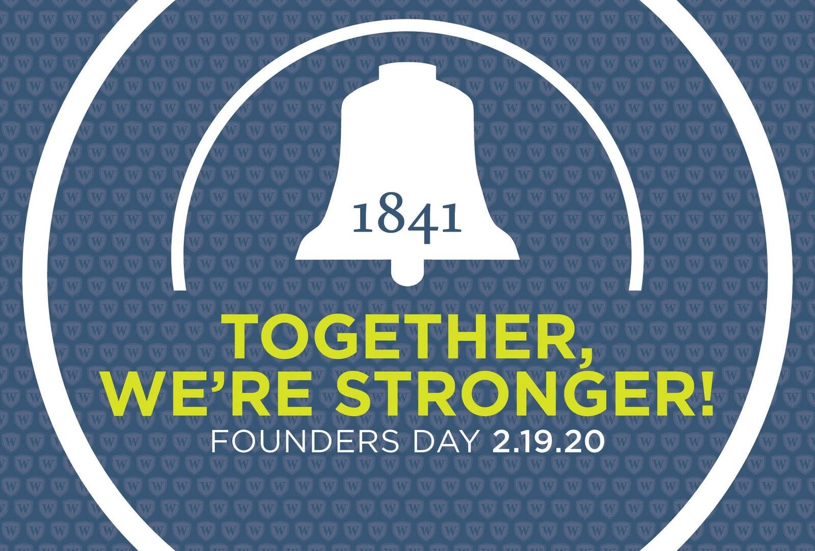 Image: Founders Day graphic with the bell